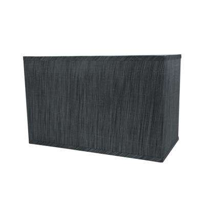 Grey And Black Striped Pattern Hardback Rectangular Lamp