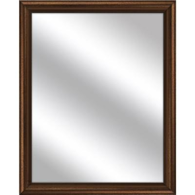 Medium Rectangle Gold Art Deco Mirror (32.75 in. H x 26.75 in. W)