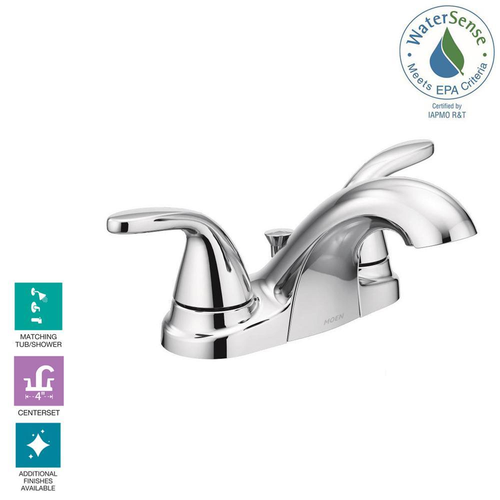 Centerset 2-Handle Bathroom Faucet in Chrome