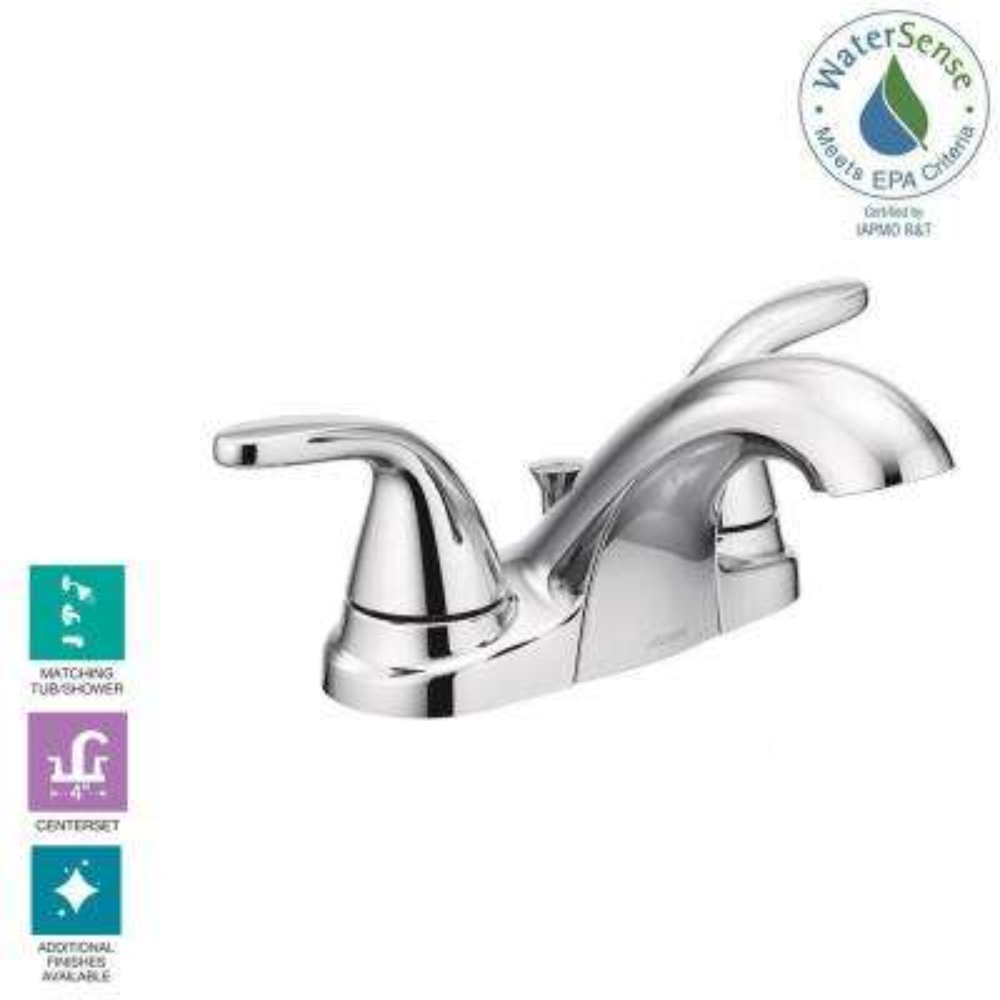 Adler 4 in. Centerset 2-Handle Bathroom Faucet in Chrome