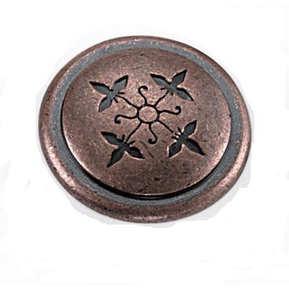Cimarron 1-1/4 in. Antique Copper Cabinet Knob