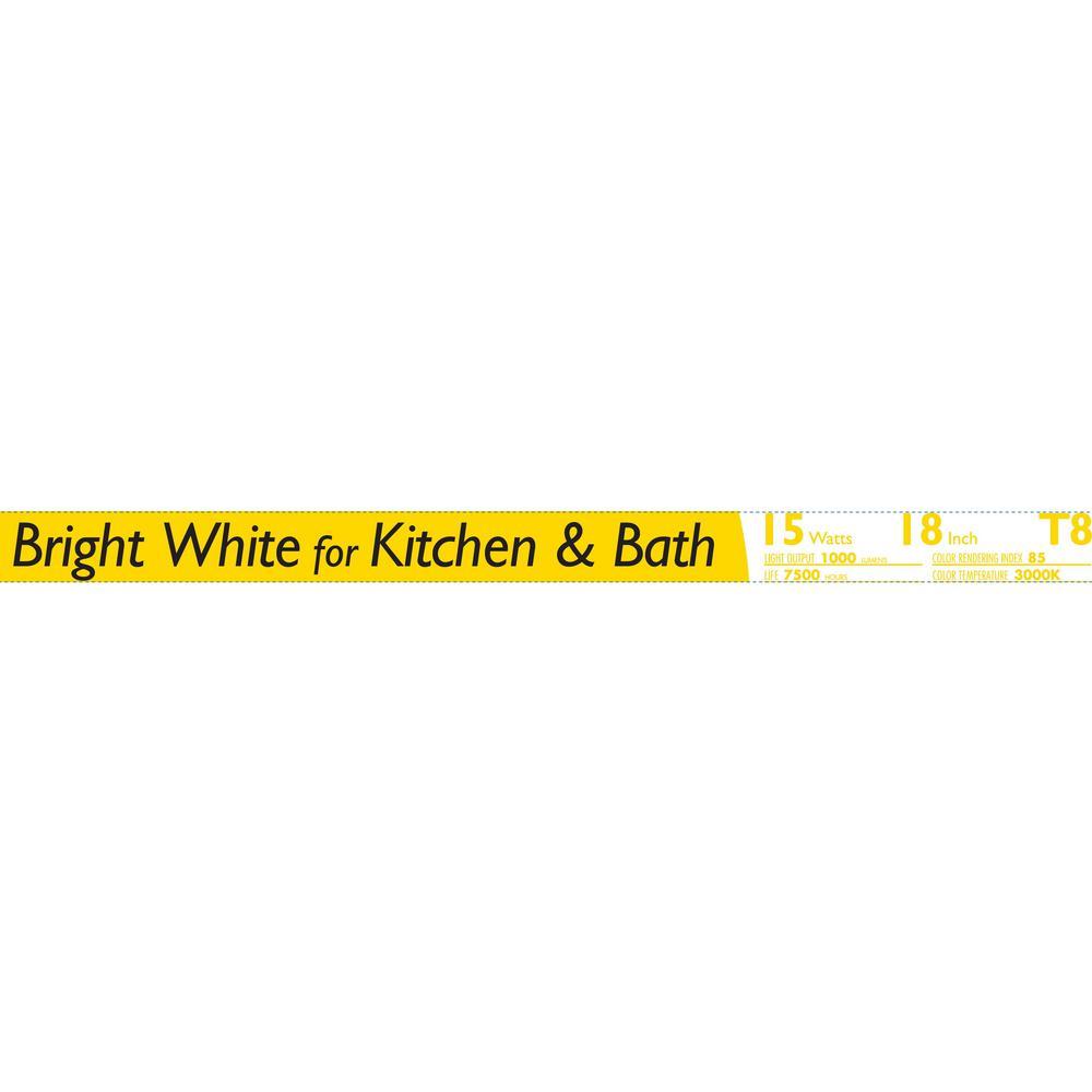 Fluorescent Light Kwh Usage: Philips 15-Watt 18 In. Linear T8 Fluorescent Tube Light