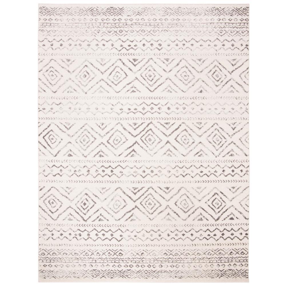 Tulum Ivory/Gray 8 ft. x 10 ft. Area Rug