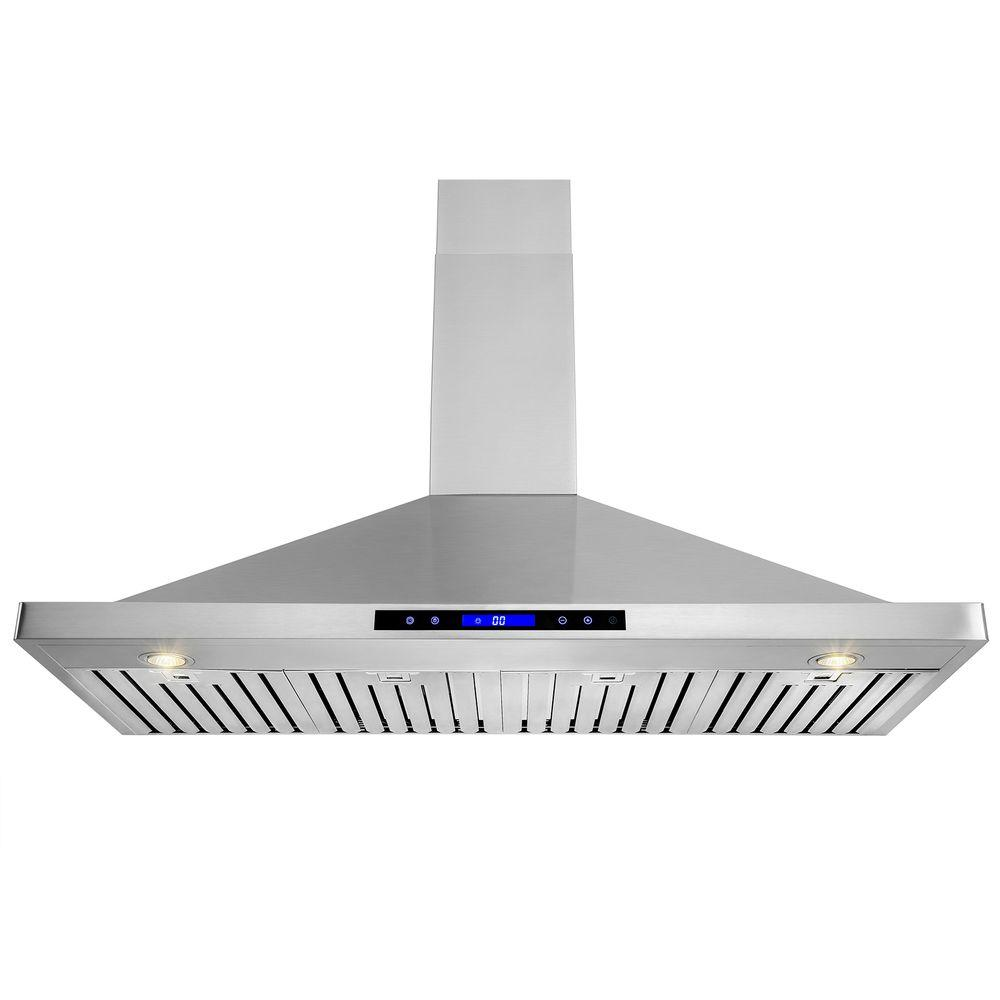 48 in. Convertible Kitchen Wall Mount Range Hood in Stainless Steel