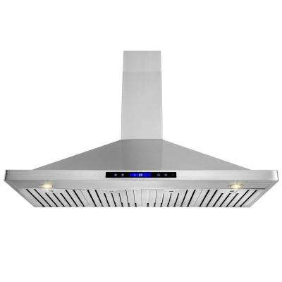 48 in. Convertible Kitchen Wall Mount Range Hood in Stainless Steel with Remote, Touch Control and Carbon Filter