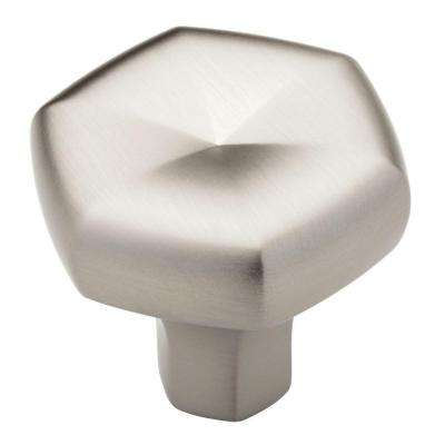 Stratus 1-1/3 in. (34 mm) Stainless Finish Geometric Cabinet Knob
