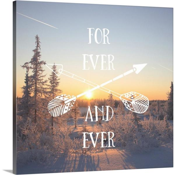 GreatBigCanvas ''For Ever And Ever - Sentiment'' by Inner Circle Canvas