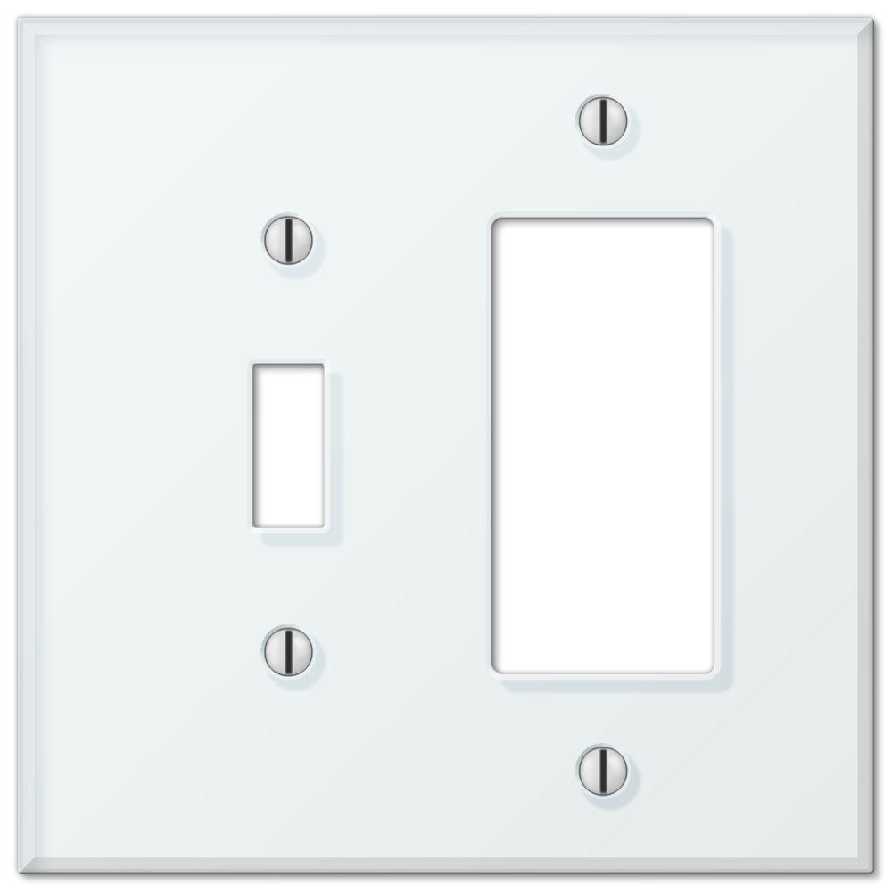 acrylic glass 1 toggle 1 decorator wall plate