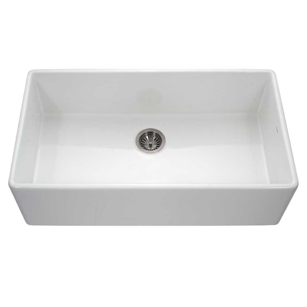 houzer platus apron front fireclay 36 in single bowl kitchen sink rh homedepot com