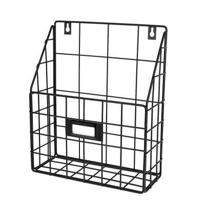 10.25 in. x 11.5 in. Wire Mail Single Slot Wall Mounted Basket