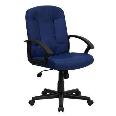 Mid Back Navy Fabric Executive Swivel Office Chair With