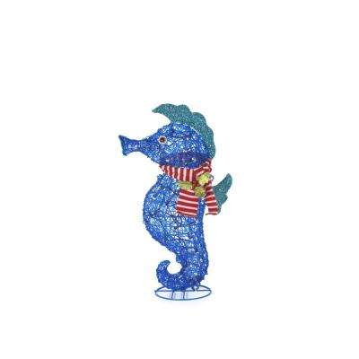 28.75 in. Christmas Seahorse in Scarf