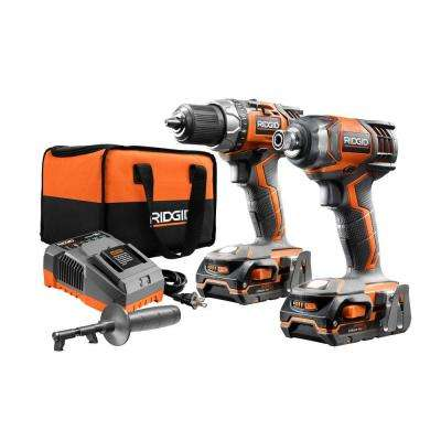 18-Volt Lithium-Ion Cordless Drill/Driver and Impact Driver 2-Tool Combo Kit with (2) 1.5 Ah Batteries, Charger, and Bag