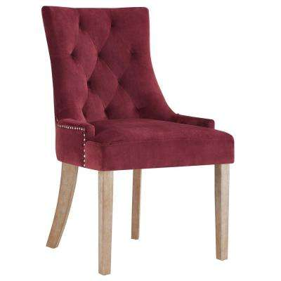 Pose Maroon Upholstered Fabric Dining Chair