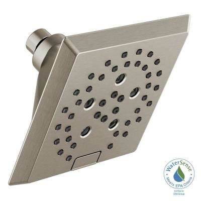 Pivotal 5-Spray H2OKinetic 5.81 in. Fixed Shower Head in Stainless
