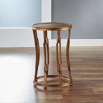 Antique Gold Hourglass Side Table