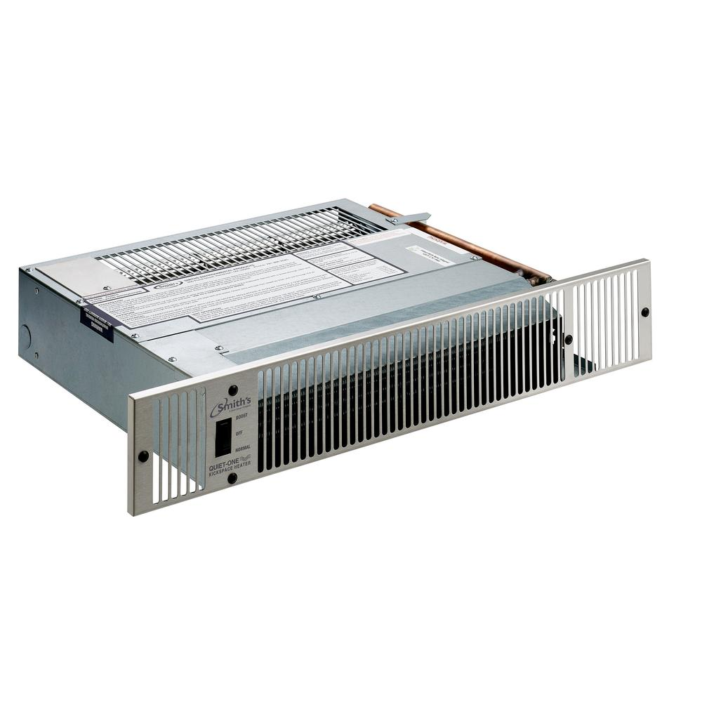 Quiet-One 2000 Series 11,995 BTU Hydronic Kickspace Heater in Stainless Steel (Not Electric)
