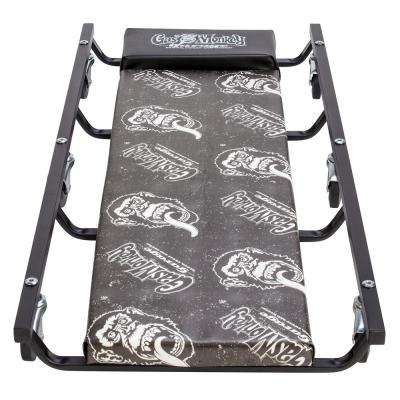 Mechanic Creeper with Headrest - Vinyl Cushion and 6 Rolling casters - 350 lbs. Capacity