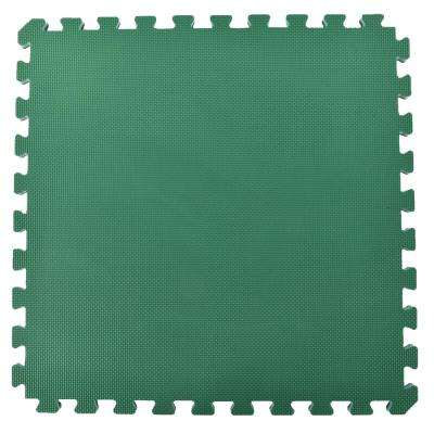 Home Sport and Play Green/Brown 24 in. x 24 in. x 7/8 in. Foam Interlocking Floor Tile (Case of 25)