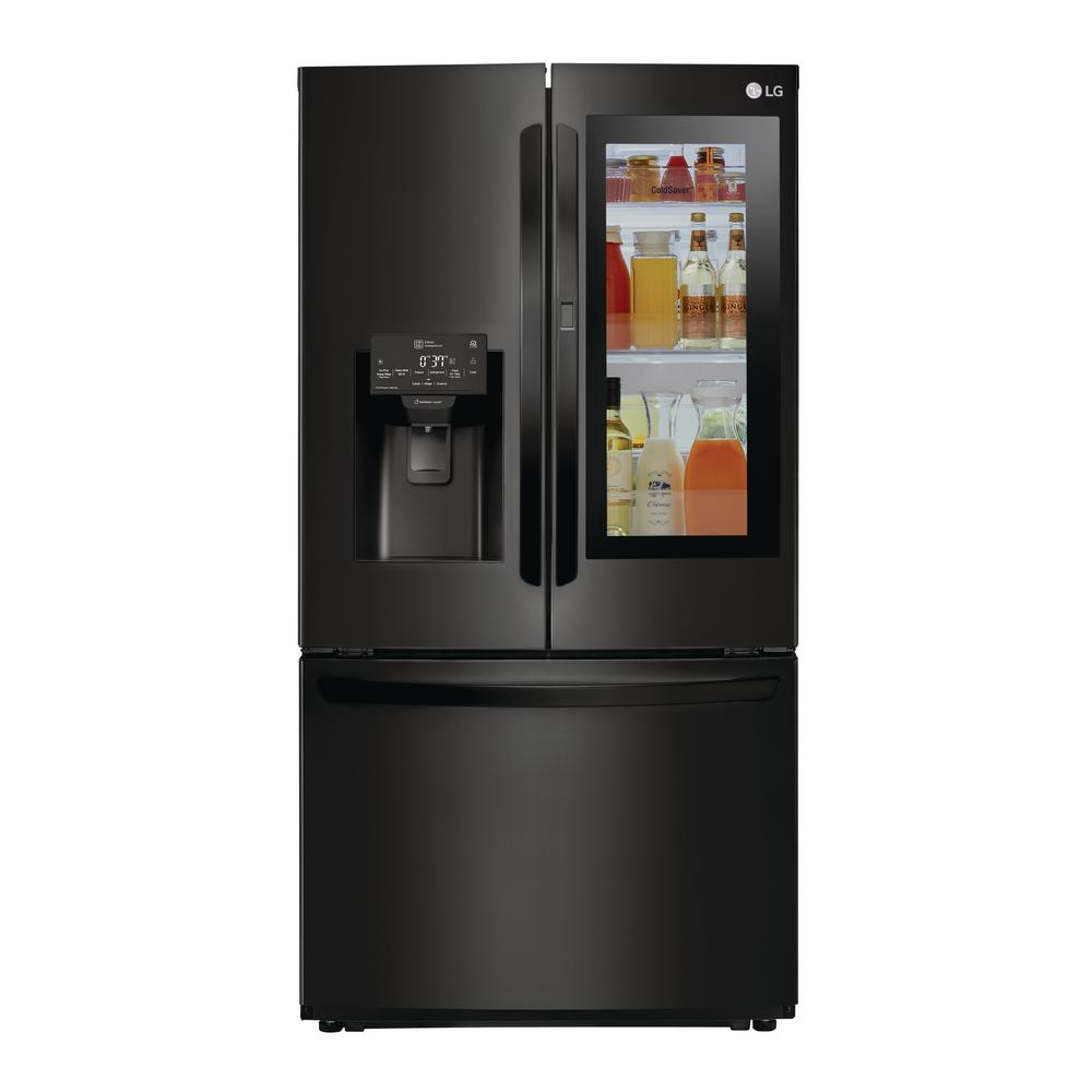 22.1 cu. ft. French Door Refrigerator in Black, Counter Depth