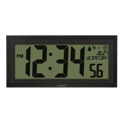 15 in. Extra-Large Textured Atomic Digital Clock