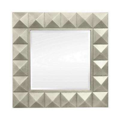 36 in. Wood Wall Mirror in Champagne