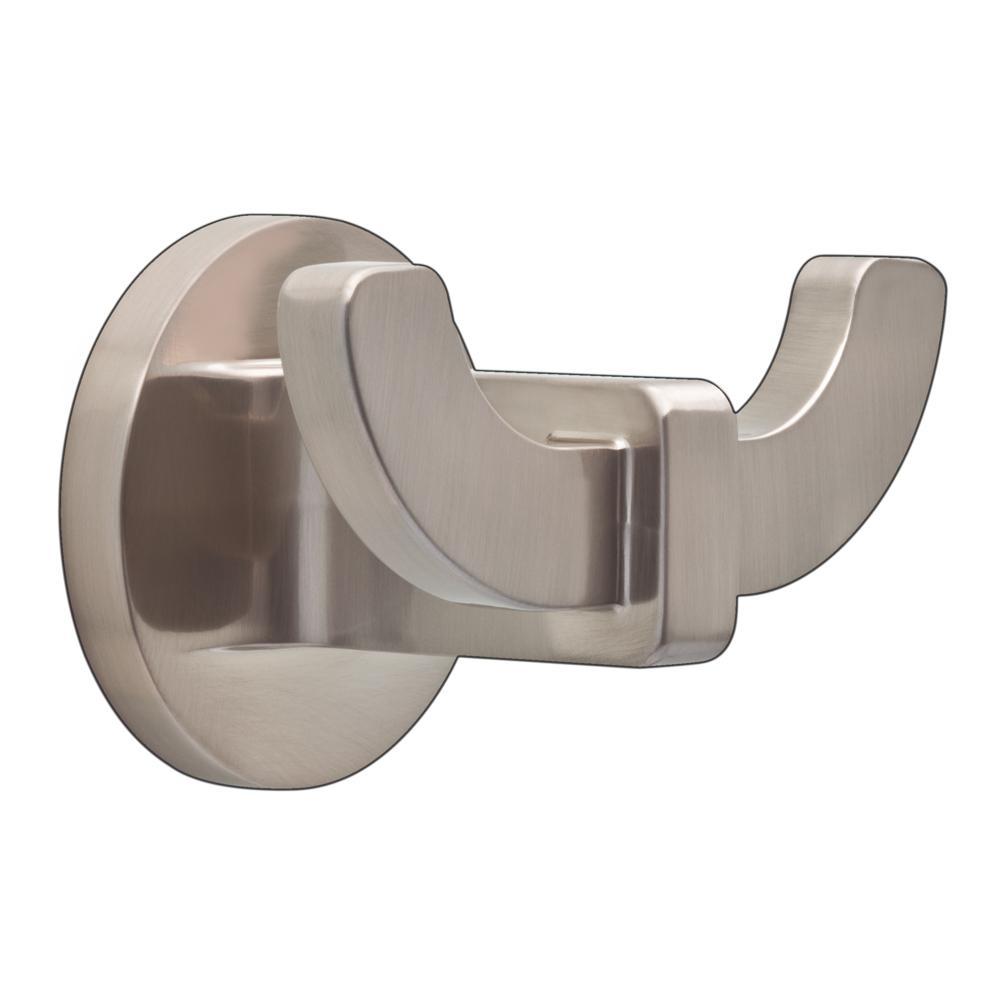 Mandolin Double Towel Hook in SpotShield Brushed Nickel
