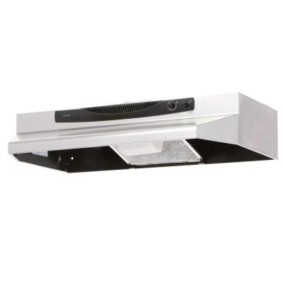 ACS Series 30 in. Convertible Under Cabinet Range Hood with Light in Stainless Steel