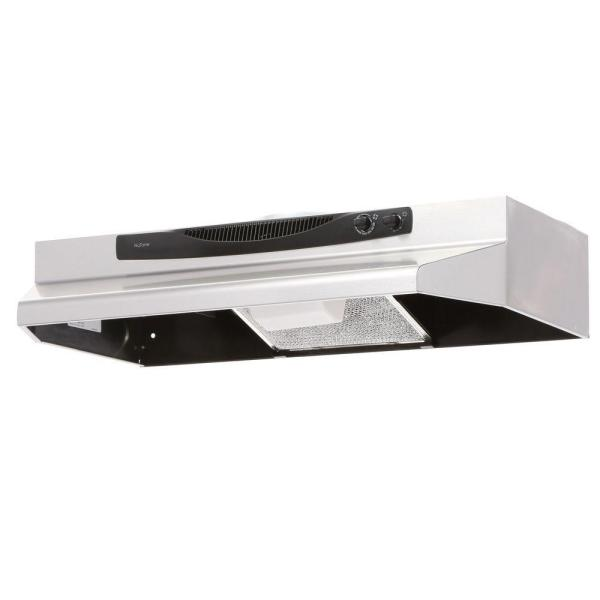 NuTone ACS Series 30 in. Convertible Under Cabinet Range Hood with Light in Stainless Steel