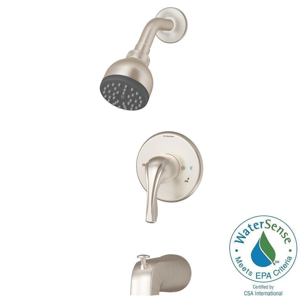 Origins Temptrol Single-Handle 1-Spray Tub and Shower Faucet in Satin Nickel