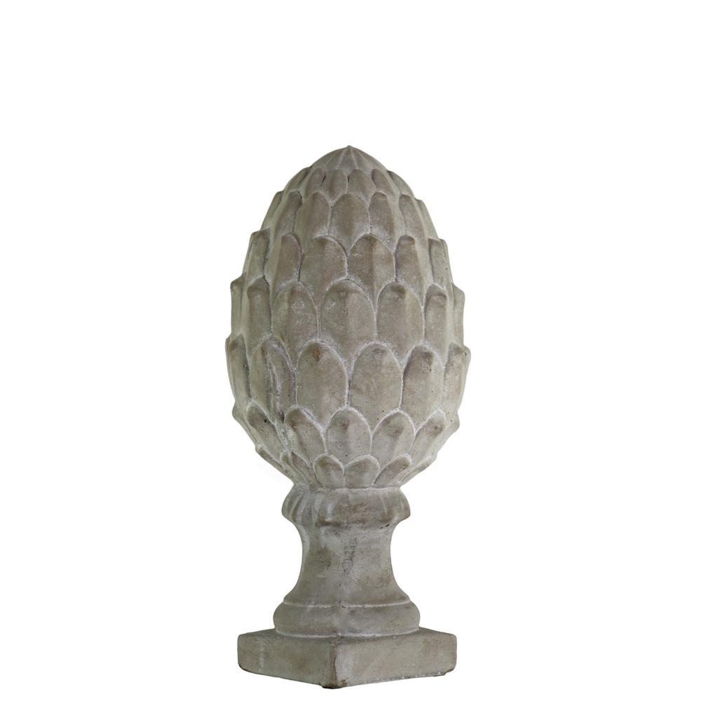 11.50 in. H Figurine Decorative Sculpture in Gray Concrete