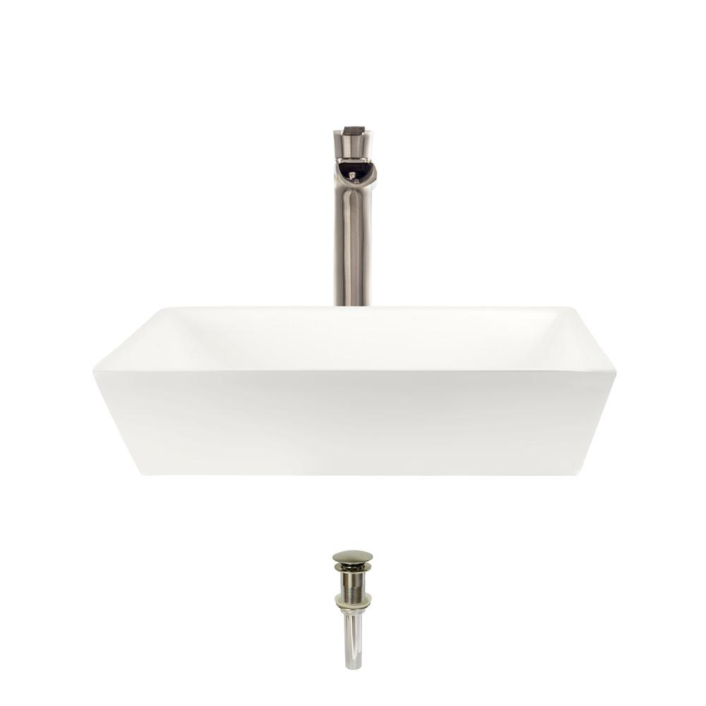 Mr Direct Porcelain Vessel Sink In Bisque With 731 Faucet