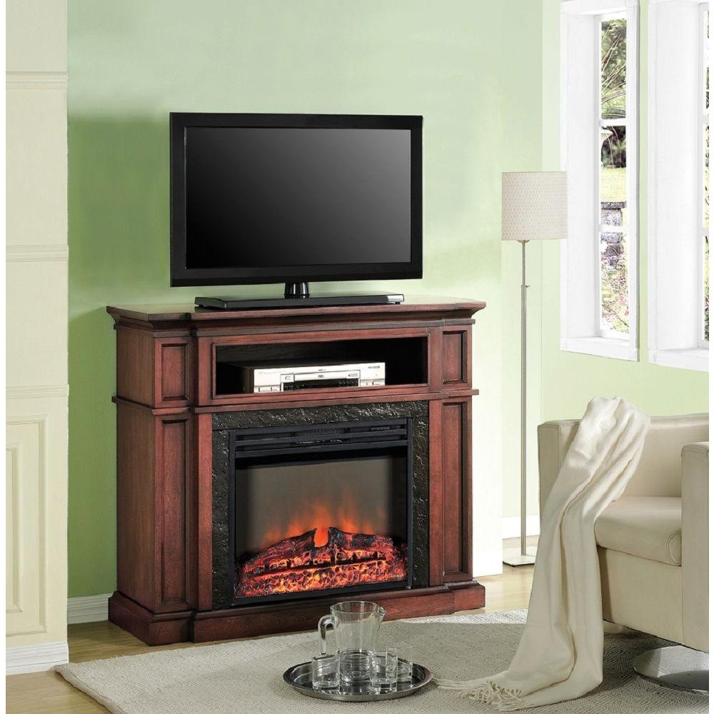 Muskoka Madigan 42 in. Media Console Electric Fireplace in Mahogany-DISCONTINUED