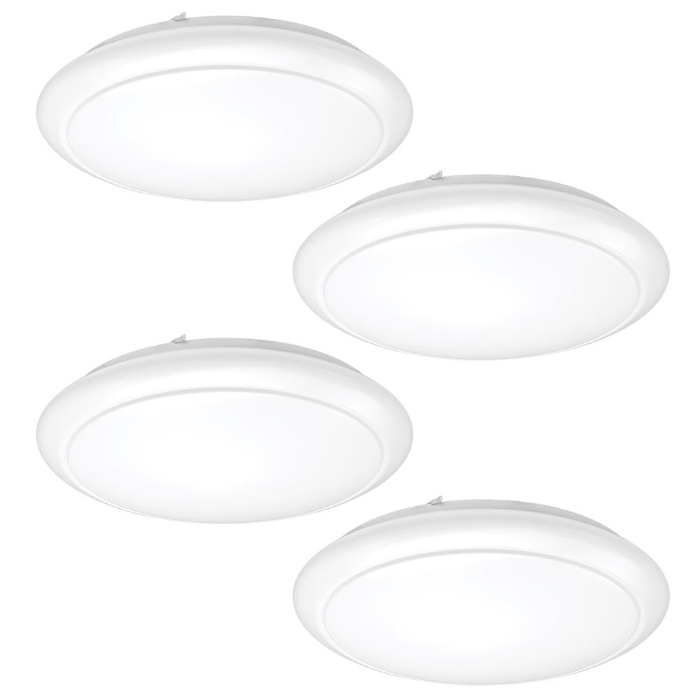ETi 24 in. White Round LED Flush Mount Ceiling Light Kitchen Laundry Garage Light 2810 Lumens 2700K Dimmable (4-Pack) was $389.97 now $159.88 (59.0% off)
