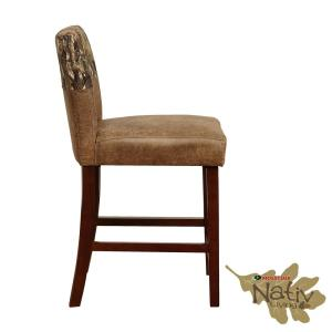 Fabulous Linon Home Decor Linden 24 In Brown Mossy Oak Counter Stool Ncnpc Chair Design For Home Ncnpcorg