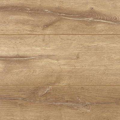 8mm Biscayne Washed Oak 5 in. x 7 in. Laminate Flooring- Take Home Sample