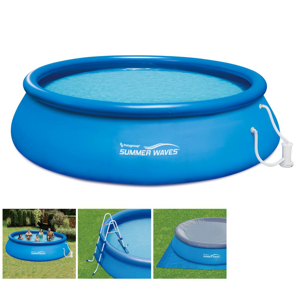 Alvorlig Summer Waves Inflatable Ring Quick Set 15 ft. x 42 in. D Round RC85