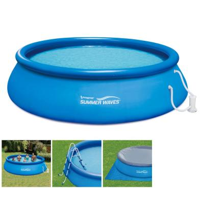 Inflatable Ring Quick Set 15 ft. x 42 in. D Round Above Ground Pool with RX1000 Filter Pump System