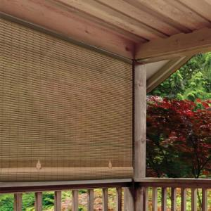 Radiance Woodgrain Cord Free Pvc Exterior Manual Roll Up