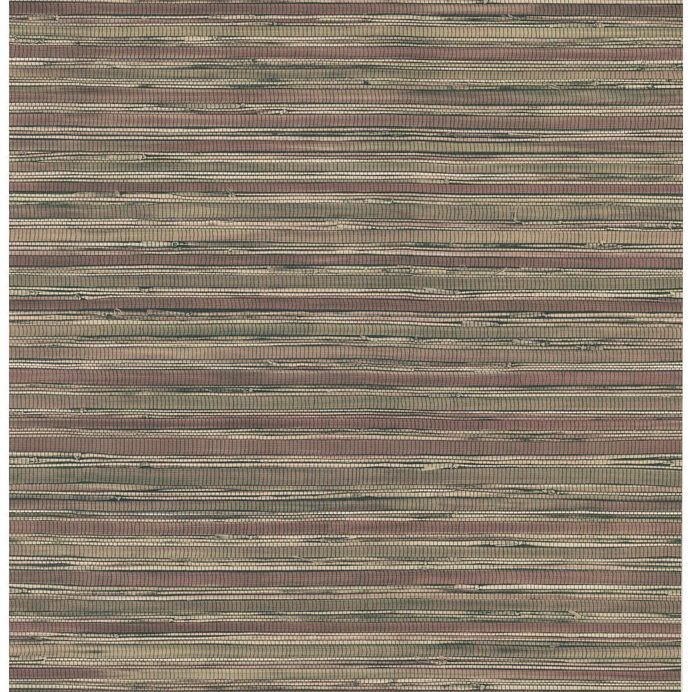 Northwoods Lodge Red Grasscloth Wallpaper Sample