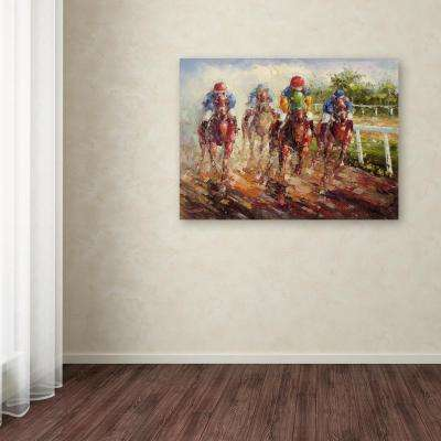 "35 in. x 47 in. ""Kentucky Derby"" by Rio Printed Canvas Wall Art"