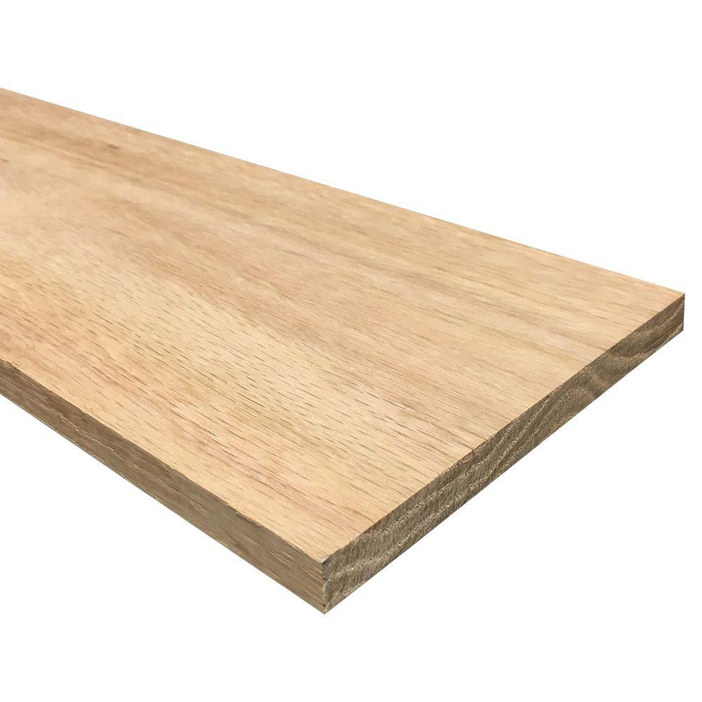 1/2 in. x 6 in. x 4 ft. S4S Oak Board