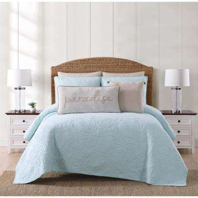 Chambray Coast Aqua Twin XL Quilt Set