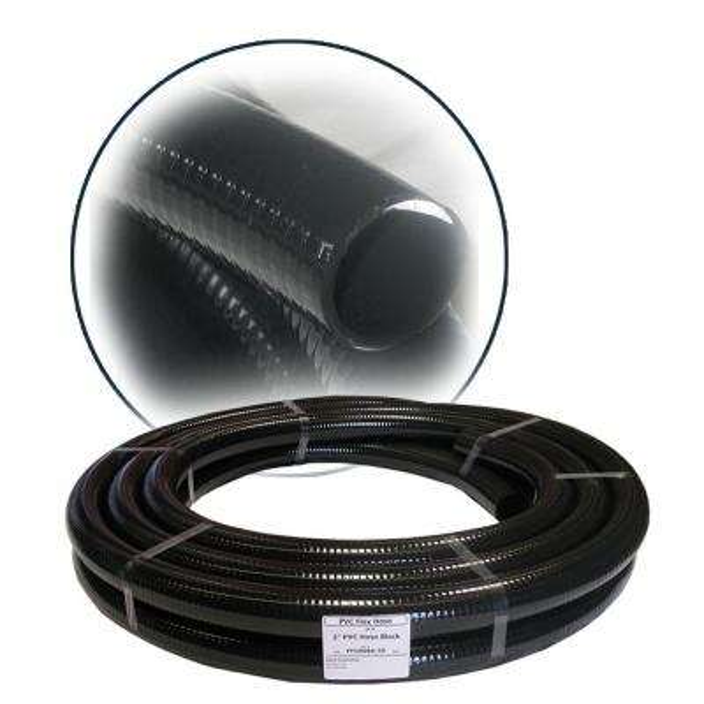 1-1/2 in. ID x 100 ft. PVC Flex Hose in Black