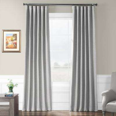 Vista Grey Gray Bellino Blackout Room Darkening Curtain - 50 in. W x 84 in. L