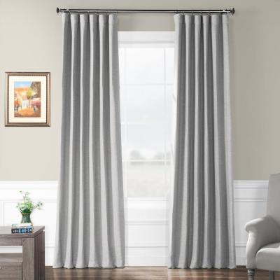 Vista Grey Gray Bellino Blackout Room Darkening Curtain - 50 in. W x 96 in. L