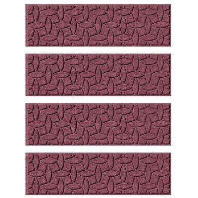 Bordeaux 8.5 in. x 30 in. Ellipse Stair Tread Cover (Set of 4)