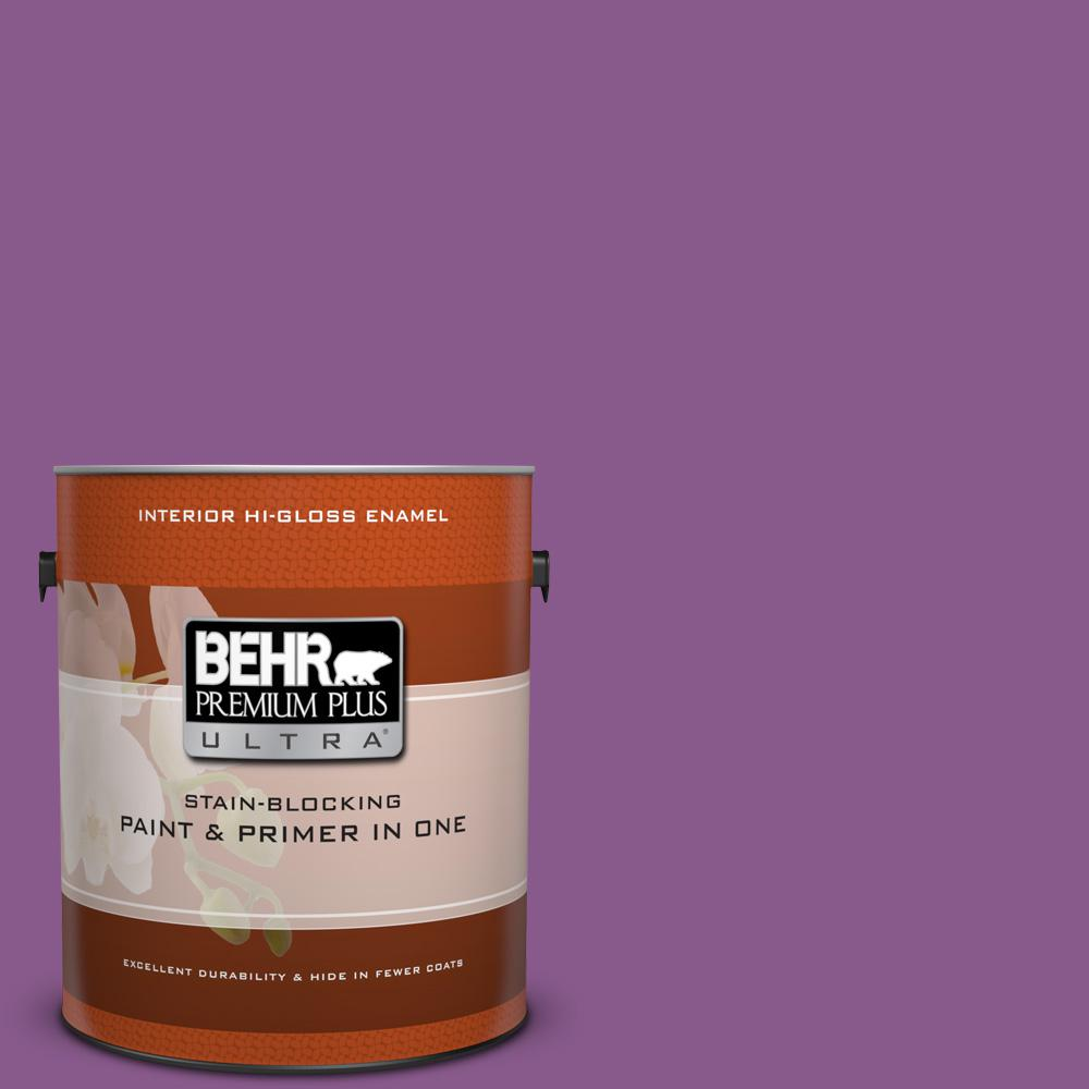 1 gal. #670B-7 Candy Violet Hi-Gloss Enamel Interior Paint