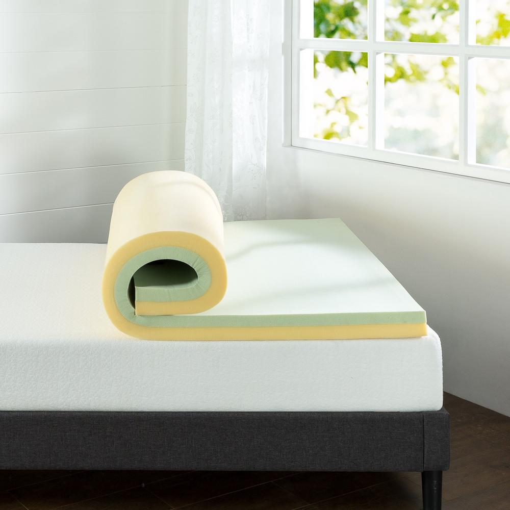 Green Tea Twin Memory Foam Mattress Topper