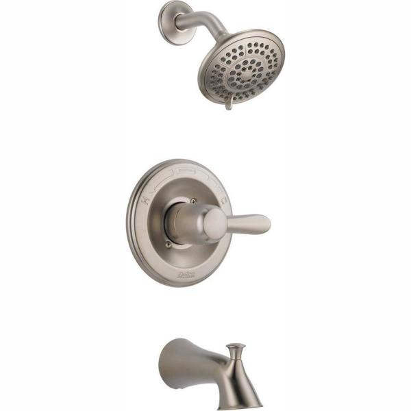 Lahara 1-Handle Tub and Shower Faucet Trim Kit Only in Stainless (Valve Not Included)